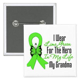 Cinta del cáncer del linfoma mi héroe mi abuela pins