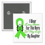 Cinta del cáncer del linfoma mi héroe mi hija pins