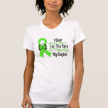 Cinta del cáncer del linfoma mi héroe mi hija camiseta