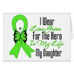 Cinta del cáncer del linfoma mi héroe mi hija felicitación
