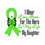 Cinta del cáncer del linfoma mi héroe mi hija postal