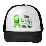 Cinta del cáncer del linfoma mi héroe mi hijo gorro de camionero
