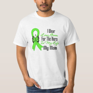 Cinta del cáncer del linfoma mi héroe mi mamá playera