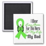 Cinta del cáncer del linfoma mi héroe mi papá imanes