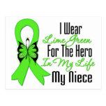 Cinta del cáncer del linfoma mi héroe mi sobrina postales