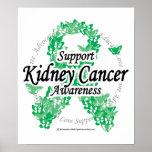 Cinta del cáncer del riñón de mariposas poster