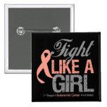 Cinta del cáncer endometrial - lucha como un chica pin