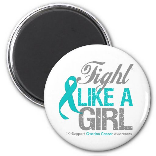 Cinta del cáncer ovárico - lucha como un chica imán