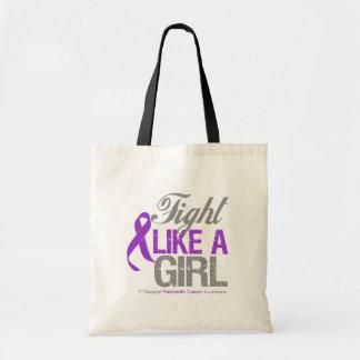 Cinta del cáncer pancreático - lucha como un chica bolsas