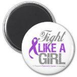 Cinta del cáncer pancreático - lucha como un chica imán de nevera