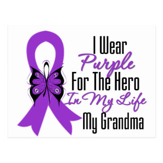 Cinta del cáncer pancreático mi héroe mi abuela tarjeta postal