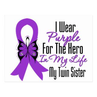 Cinta del cáncer pancreático mi héroe mi hermana g postal