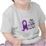 Cinta del cáncer pancreático mi héroe mi mamá camiseta
