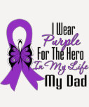 Cinta del cáncer pancreático mi héroe mi papá camiseta