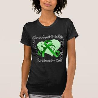 Cinta del corazón - conciencia de la parálisis camisetas