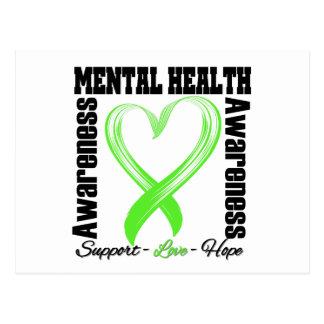 Cinta del corazón - conciencia de la salud mental postal