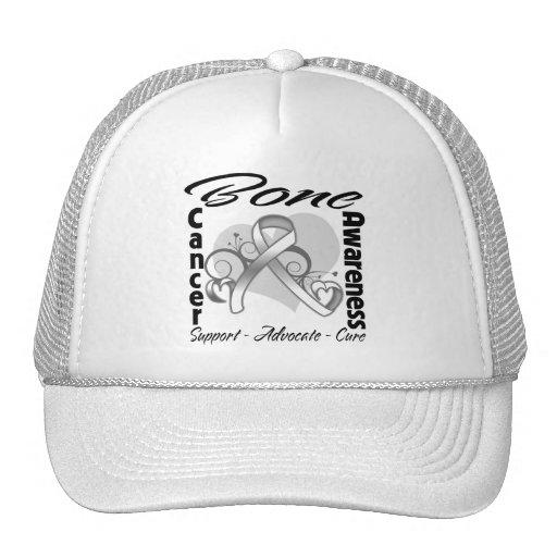 Cinta del corazón - conciencia del cáncer de hueso gorras de camionero