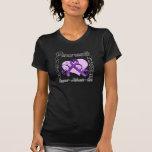 Cinta del corazón - conciencia del cáncer pancreát camisetas