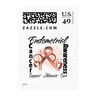 Cinta del corazón - conciencia del cáncer timbres postales