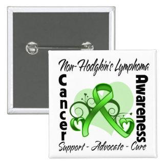 Cinta del corazón - conciencia del linfoma de Non- Pins
