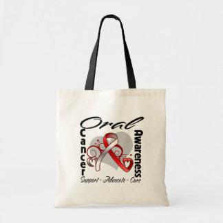 Cinta del corazón - conciencia oral del cáncer bolsa tela barata