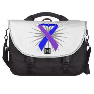 Cinta del corazón de la conciencia de la artritis  bolsas para portatil
