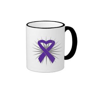 Cinta del corazón de la conciencia de la enfermeda tazas de café