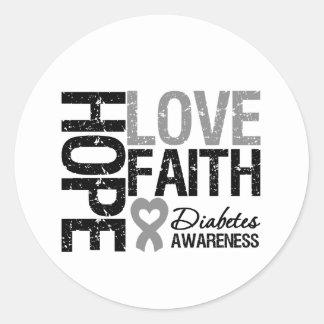 Cinta del corazón de la fe del amor de la pegatina redonda