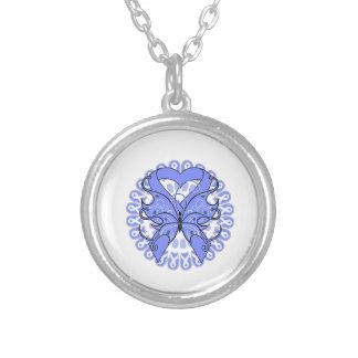 Cinta del corazón de la mariposa del cáncer de est colgantes