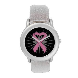 Cinta del corazón del cáncer de pecho reloj
