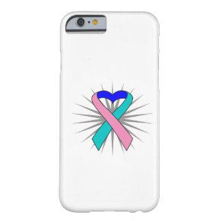 Cinta del corazón del cáncer de tiroides funda de iPhone 6 barely there