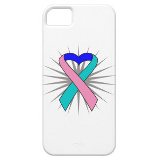 Cinta del corazón del cáncer de tiroides iPhone 5 Case-Mate funda