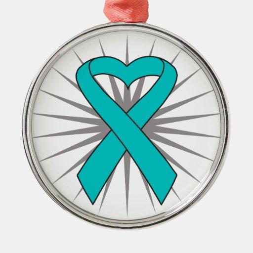 Cinta del corazón del cáncer ovárico ornatos