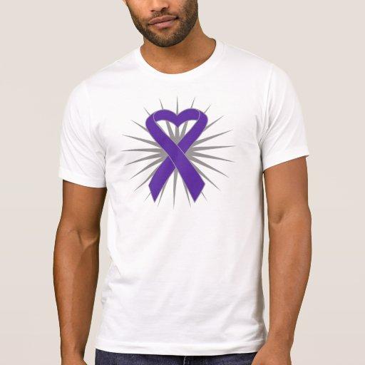 Cinta del corazón del cáncer pancreático playeras