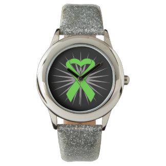 Cinta del corazón del linfoma de Non-Hodgkins Reloj De Mano