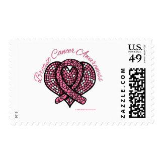 Cinta del corazón del mosaico del cáncer de pecho