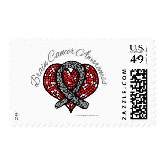 Cinta del corazón del mosaico del cáncer de sello
