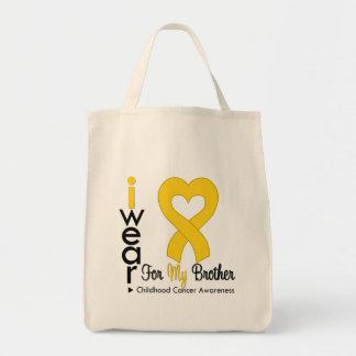 Cinta del corazón del oro del cáncer de la niñez p bolsas