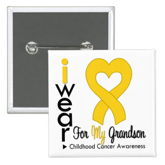 Cinta del corazón del oro del cáncer de la niñez p pins