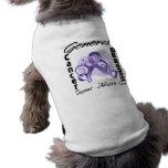 Cinta del corazón - general Cancer Awareness Camisas De Perritos