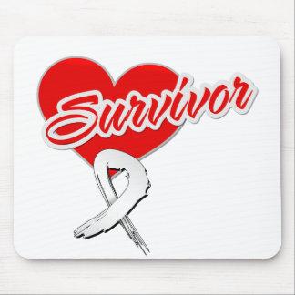 Cinta del corazón - superviviente del cáncer de hu tapete de raton