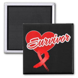 Cinta del corazón - superviviente del cáncer de sa iman de frigorífico