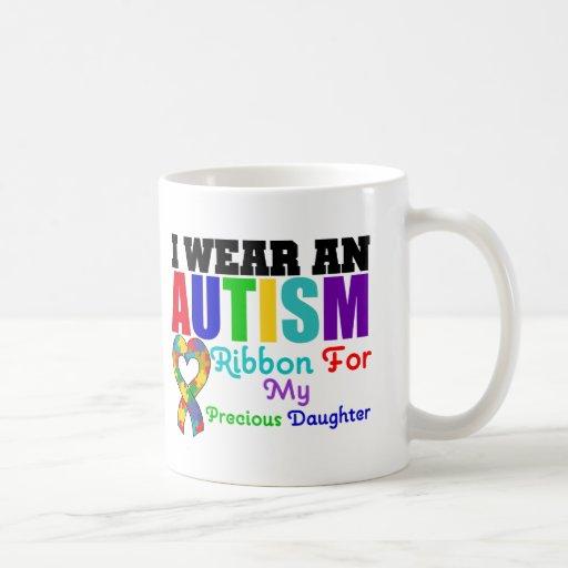 Cinta del desgaste del autismo I para mi hija prec Taza De Café