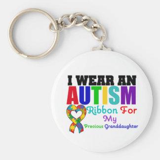 Cinta del desgaste del autismo I para mi nieta pre Llavero Redondo Tipo Pin