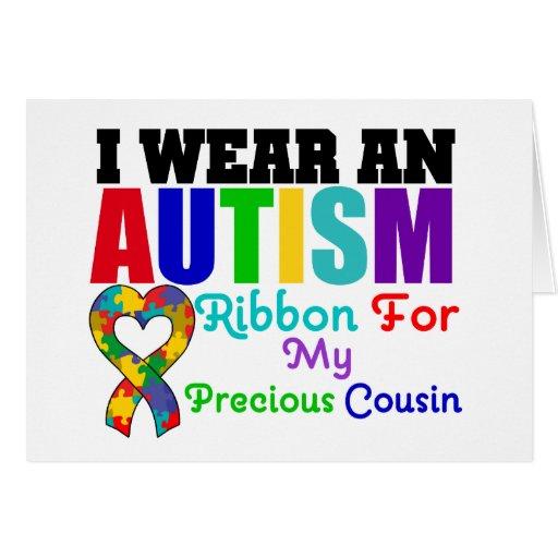 Cinta del desgaste del autismo I para mi primo pre Tarjeta De Felicitación