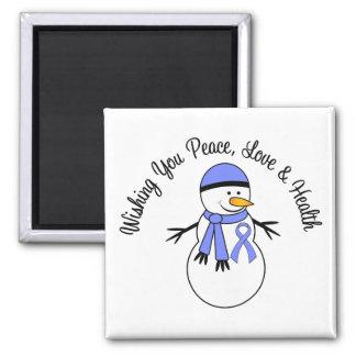 Cinta del esófago del cáncer del muñeco de nieve d imán