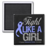 Cinta del esófago del cáncer - lucha como un chica imanes para frigoríficos