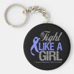 Cinta del esófago del cáncer - lucha como un chica llaveros