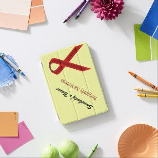 Cinta del estándar de Borgoña Cubierta De iPad Mini