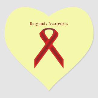 Cinta del estándar de Borgoña Pegatina En Forma De Corazón